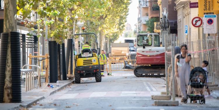 El carrer Indústria aquest matí   Roger Benet