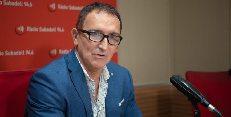 Juan Diego Valverde durant l'entrevista a l'Hotel Suís   Roger Benet
