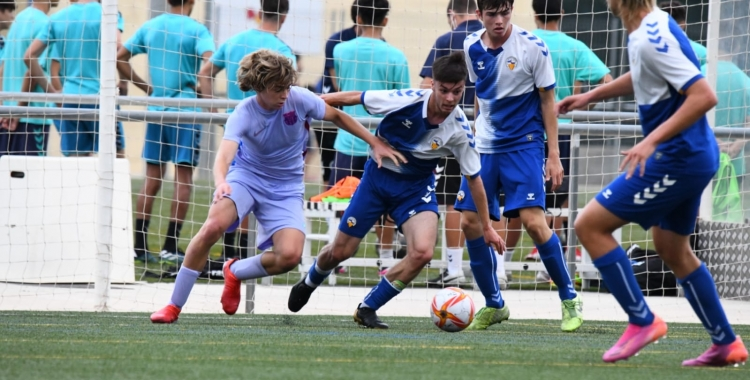 L'últim amistós de pretemporada del Sabadell juvenil, davant el segon juvenil del Barça, es va saldar amb derrota (0-1) | FutBaseCES
