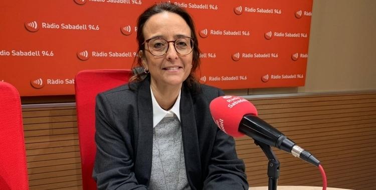 La presidenta de CIESC, Alícia Bosch, a Ràdio Sabadell | Arxiu