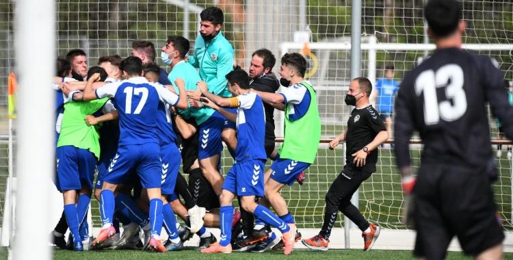 Imatge d'arxiu del passat 25 d'abril, quan el Sabadell va batre l'Espanyol | Críspulo Díaz