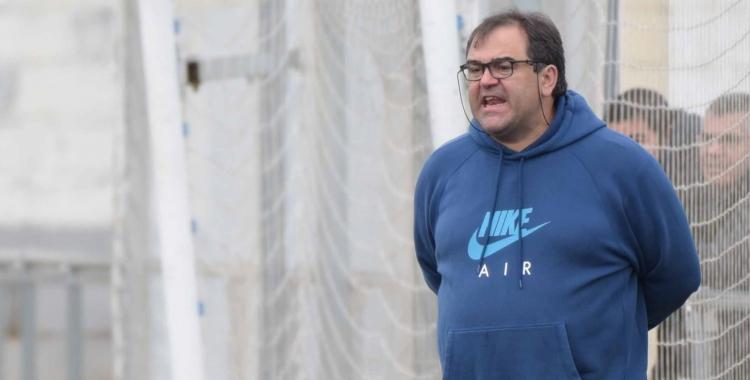 Quico Díaz dirigint un partit del Sabadell Nord a Ca n'Oriac | Roger Benet