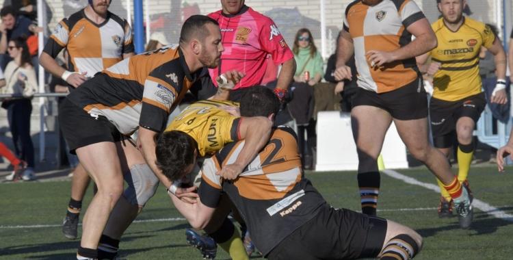 Instantània d'un dels últims partits del Sabadell RC abans de la pandèmia | Sabadell RC