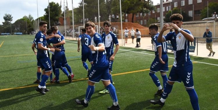 El Juvenil 'A' arlequinat es va imposar al Cerdanyola a casa a la primera jornada | FutBaseCES