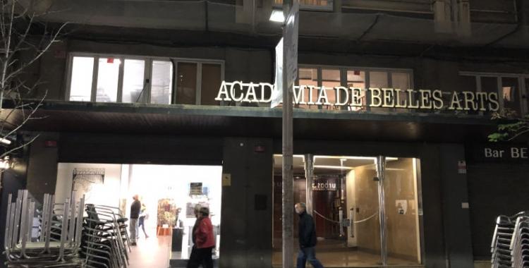 Façana de l'Acadèmia de Belles Arts de Sabadell   Cedida