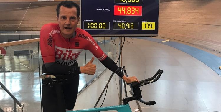 Pep Tatché després d'assolir el rècord d'Espanya   Cedida