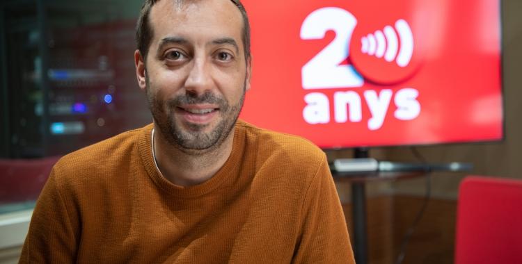 Aleix Parisé durant l'entrevista a Ràdio Sabadell | Roger Benet