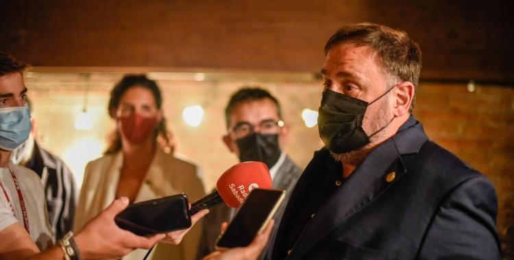 Junqueras en la roda de premsa d'aquesta tarda a la Bodega Coca | Marc Puig Pérez