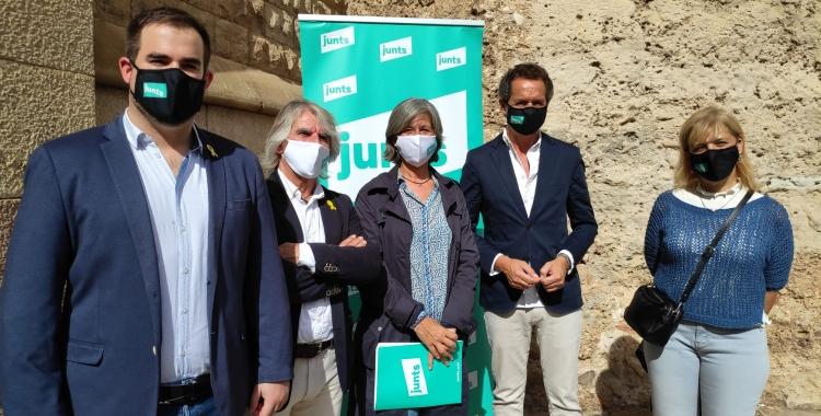 Membres de Junts a la comarca, presentant el pla de xoc de la Diputació de Barcelona | Pau Duran