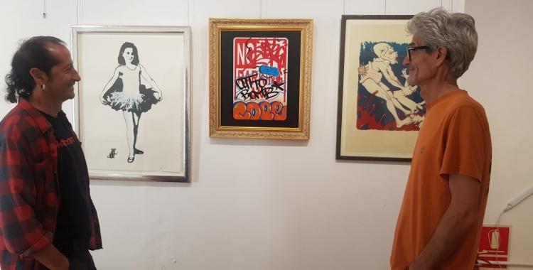 Werens Puig i Agustí Caixach, a l'exposició 'Pioners' | Raquel García
