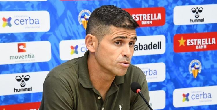 Hidalgo ha tingut una de les rodes de premsa més complicades des que dirigeix el Sabadell   CES