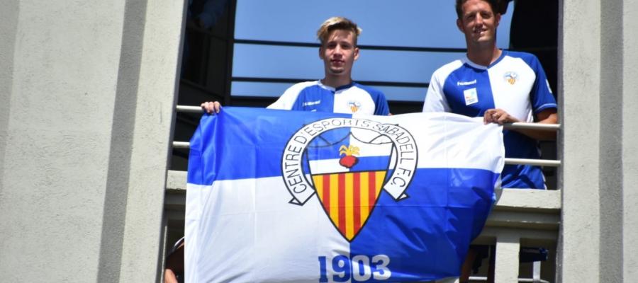 Edgar Hernández i Carlos Cobo a la Torre de l'Aigua de Sabadell | Crispulo D.
