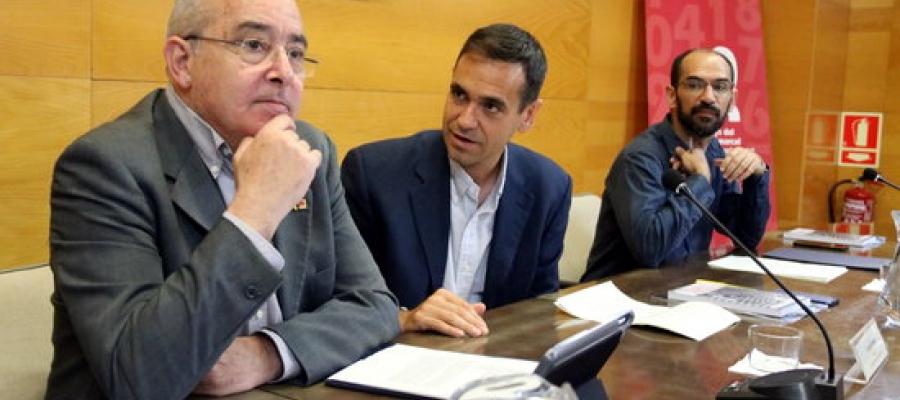 Josep Bargalló al durant el consell d'alcaldes   Foto CCVO