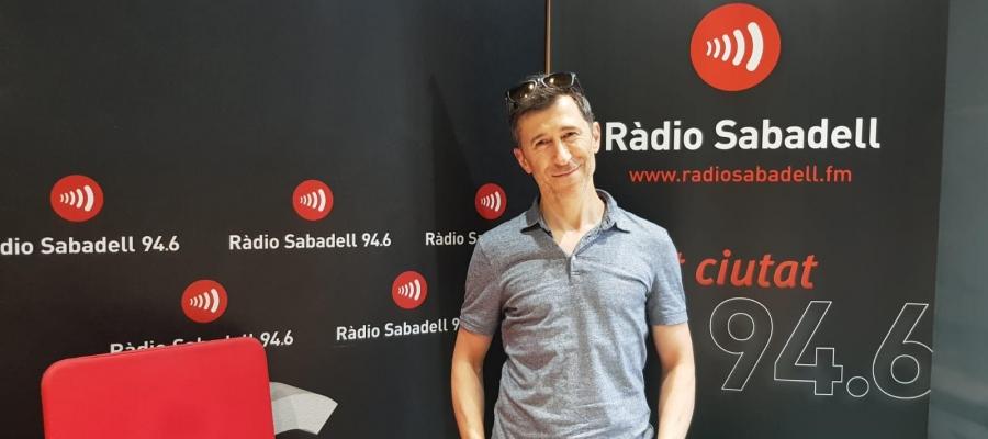 Pol Cruells en la seva visita a Ràdio Sabadell   Raquel Garcia