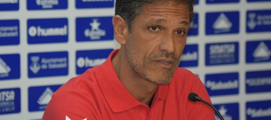 Toni Seligrat, en roda de premsa prèvia al partit contra l'Ontinyent | Crispulo D.