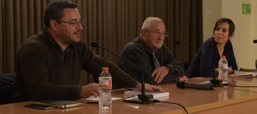 Joan Carles Sànchez, Simón Saura i Marta Farrés durant la presentació | Roger Benet