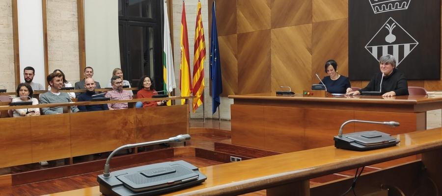 Montse Barderi, rebuda al Saló de Plens de l'Ajuntament | Pau Duran