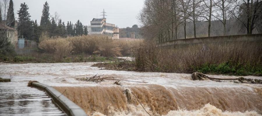 El riu Ripoll, durant el temporal/ Roger Benet