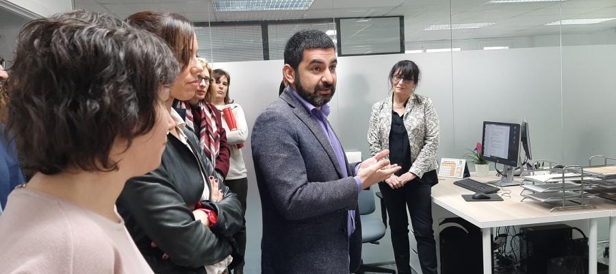 El conseller Homrani amb les autoritats, a la inauguració del SIE/ Ajuntament de Sabadell