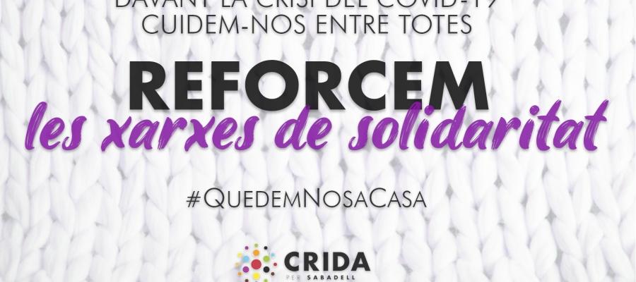La Crida proposa la creació d'una Taula de crisi per abordar de forma cooperativa la lluita contrala Covid-19aSabadell | Cedida