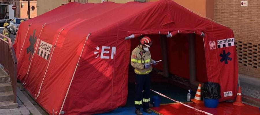 Els Bombers han actuat al Casal Can Rull de la Fundació Atendis | Ajuntament