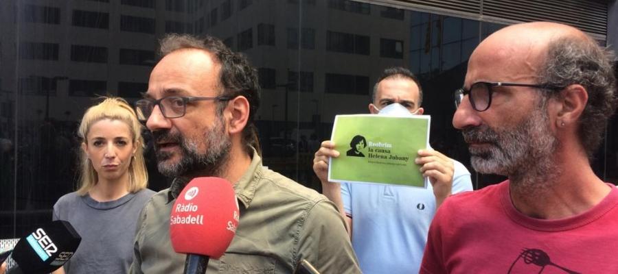Maria Argudo, Benet Salellas i Joan Jubany en roda de premsa aquest migdia   Helena Molist