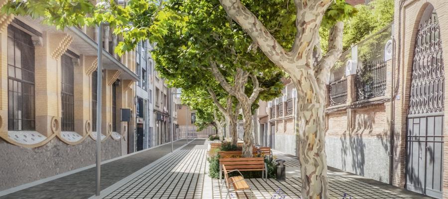 Simulació del projecte del carrer Indústria | Cedida