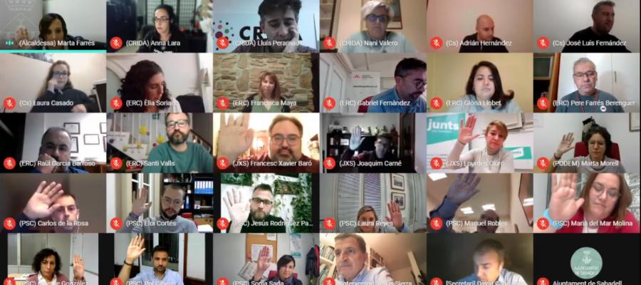 El Ple extraordinari dels pressupostos s'ha celebrat de forma virtual | Youtube