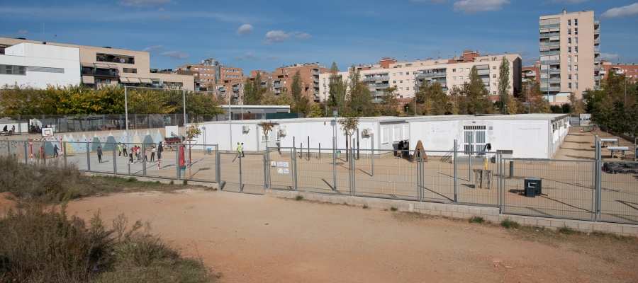 L'actual escola Virolet funciona en barracons | Roger Benet