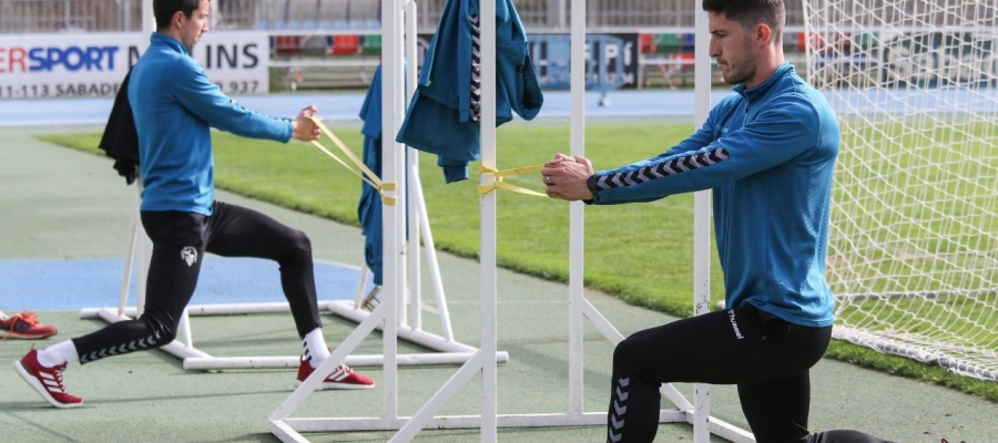 Aleix Coch i Pedro Capó ja fa dies que s'exerciten al marge   CE Sabadell