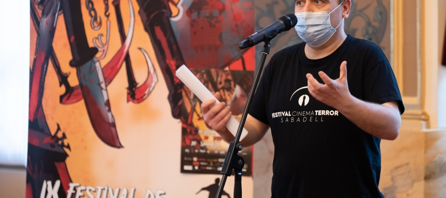 David Garnacho, director del festival, durant la presentació al Principal/ Roger Benet