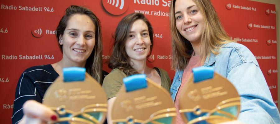 Forca, Ester i Garcia, en una visita a Ràdio Sabadell |Roger Benet