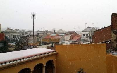 Fotografia de la nevada de Sabadell - © Arxiu Ràdio Sabadell