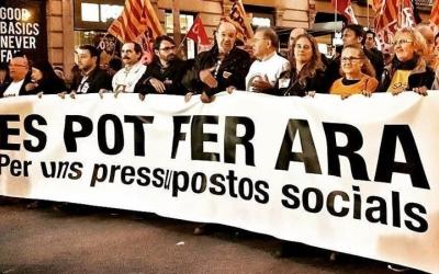 Imatge d'una de les reivindicacions per uns pressupostos més socials - © Cedida