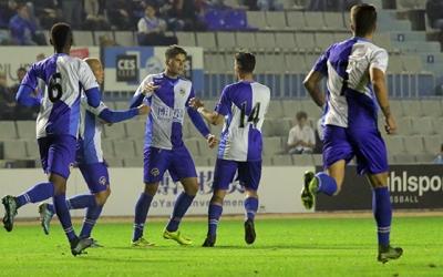 Batanero celebrant el seu gol contra el Lleida la passada temporada | Pedro Salado