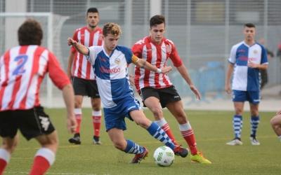 Imatge del partit de la primera volta entre Sabadell i Girona