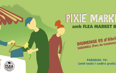 El cartell que anuncia el Pixie Market de Sabadell