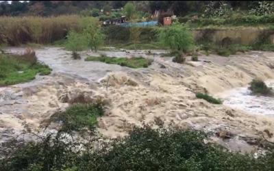 Riu Ripoll afectat per les pluges d'aquesta matinada