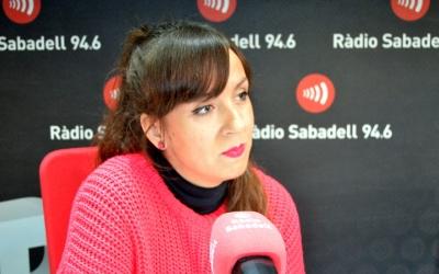 Verónica Martínez, als estudis de Ràdio Sabadell