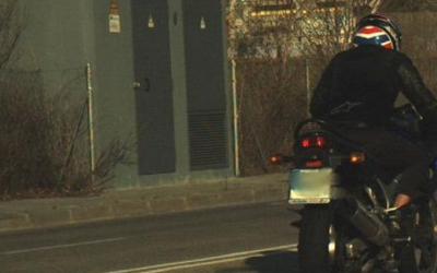 Imatge del motorista facilitada per la Policia Municipal