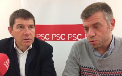 Josep Ayuso (esquerra) amb Cristian Sánchez aquest matí