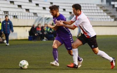 Jordan Sánchez en el partit de la primera volta a L'Hospitalet | Roger Benet (CES)