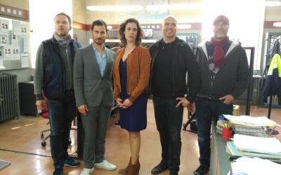 Els actors principals acompanyats del director i el productor de Der Barcelona Krimi