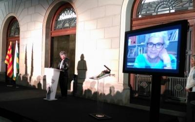 Isabel Casals ha agraït l'homenatge a la seva germana Muriel/ Montse P.Creus