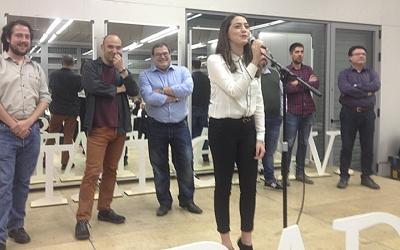 Edu Navarro, Berlanga, Vidal i Hinojo, regidors de l'Ajuntament de Sabadell amb Joan Mena, David Cid i Joan Josep Nuet. Ràdio Sabadell