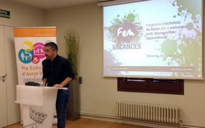 El regidor Fernández ha presentat avui les novetats del Fem Vacances