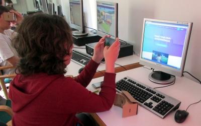 Un dels participants al taller de realitat virtual/ Cedida Espai Cultura