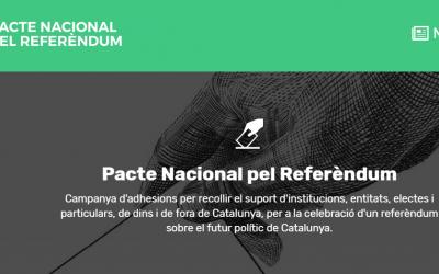 Portada de la web oficial del Pacte Nacional pel Referèndum
