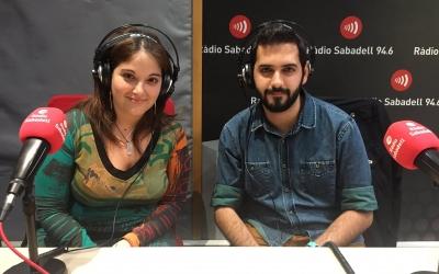 Mabel Rodríguez i Frederic Muniente, als estudis de Ràdio Sabadell