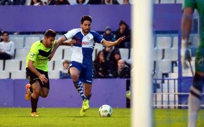 Ramon Verdú durant el partit de la primera volta contra l'Eldense